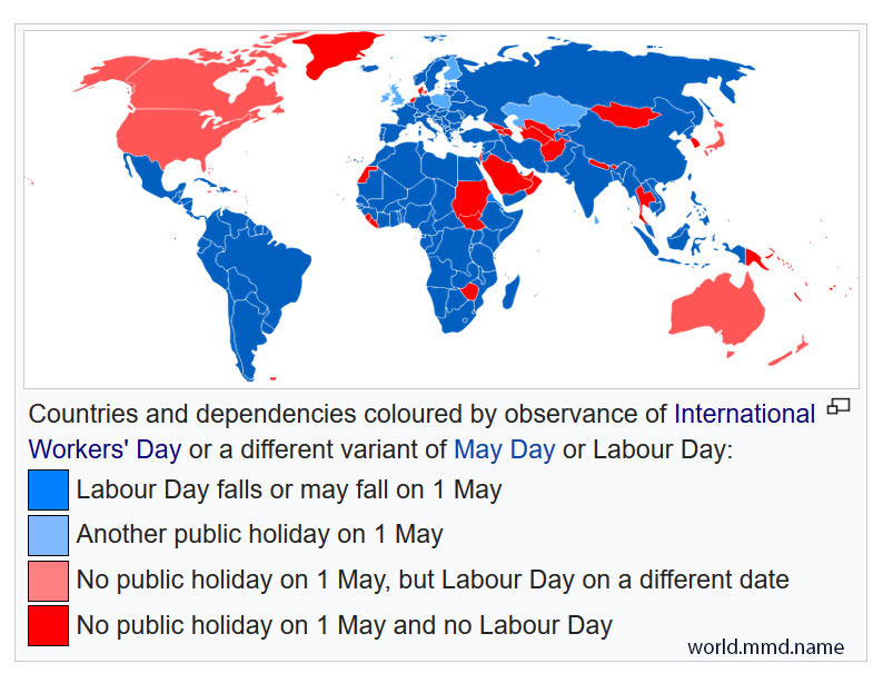 International Workers' Day and Americans - #I_Want_Blue